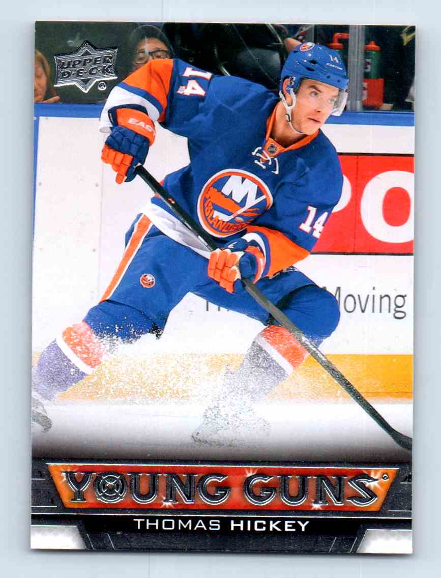 2013-14 Upper Deck Young Guns Thomas Hickey #491 card front image