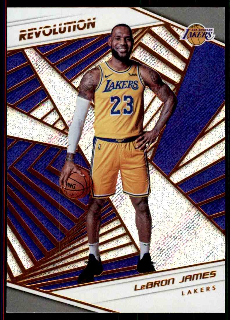2018-19 Panini Revolution Base Lebron James #40 card front image