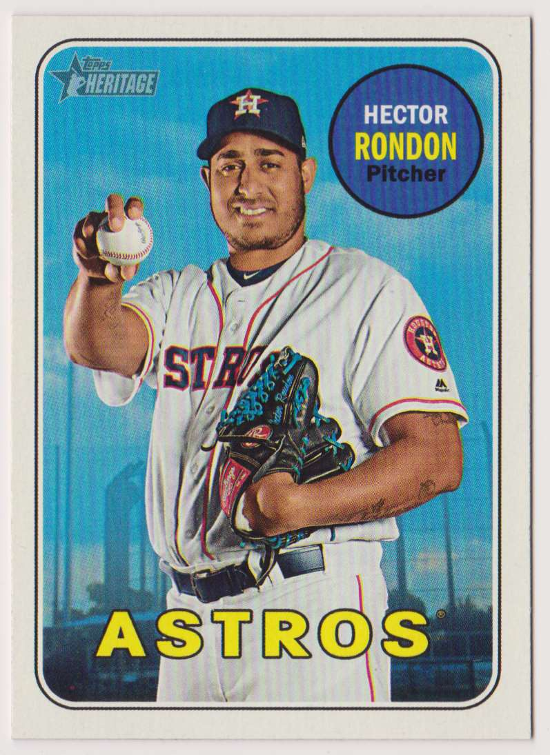 2018 Topps Heritage Hector Rondon #596 card front image
