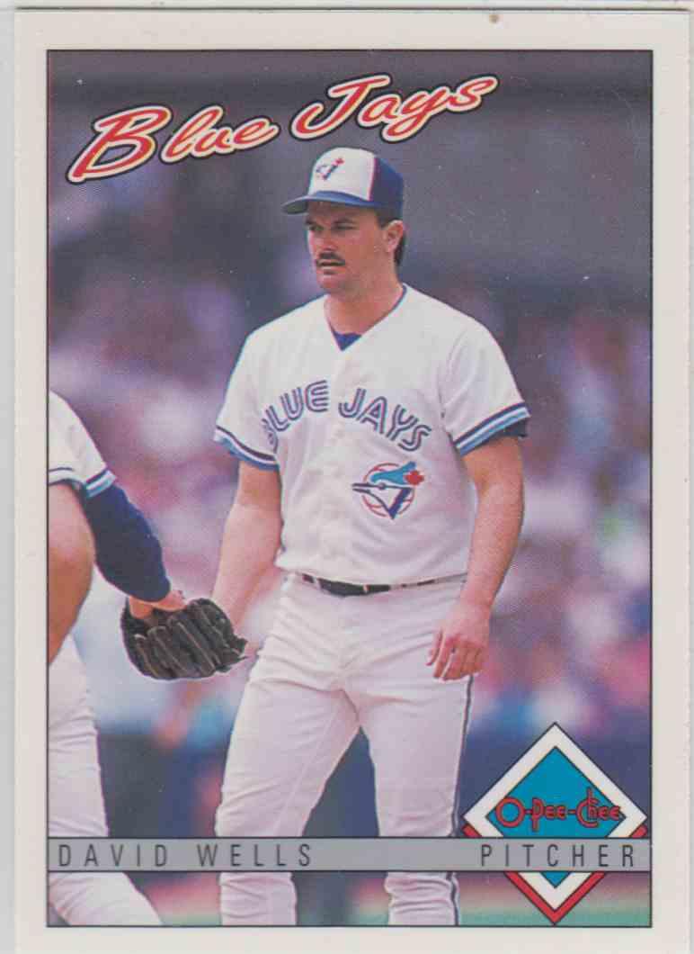 1993 O-Pee-Chee Davis Wells #321 card front image