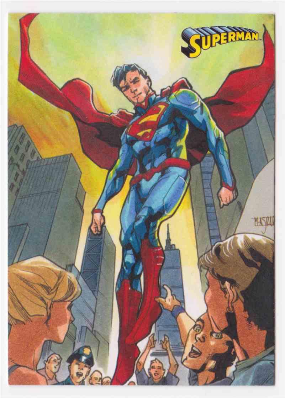 2013 Superman Cryptozoic Superman #1 card front image