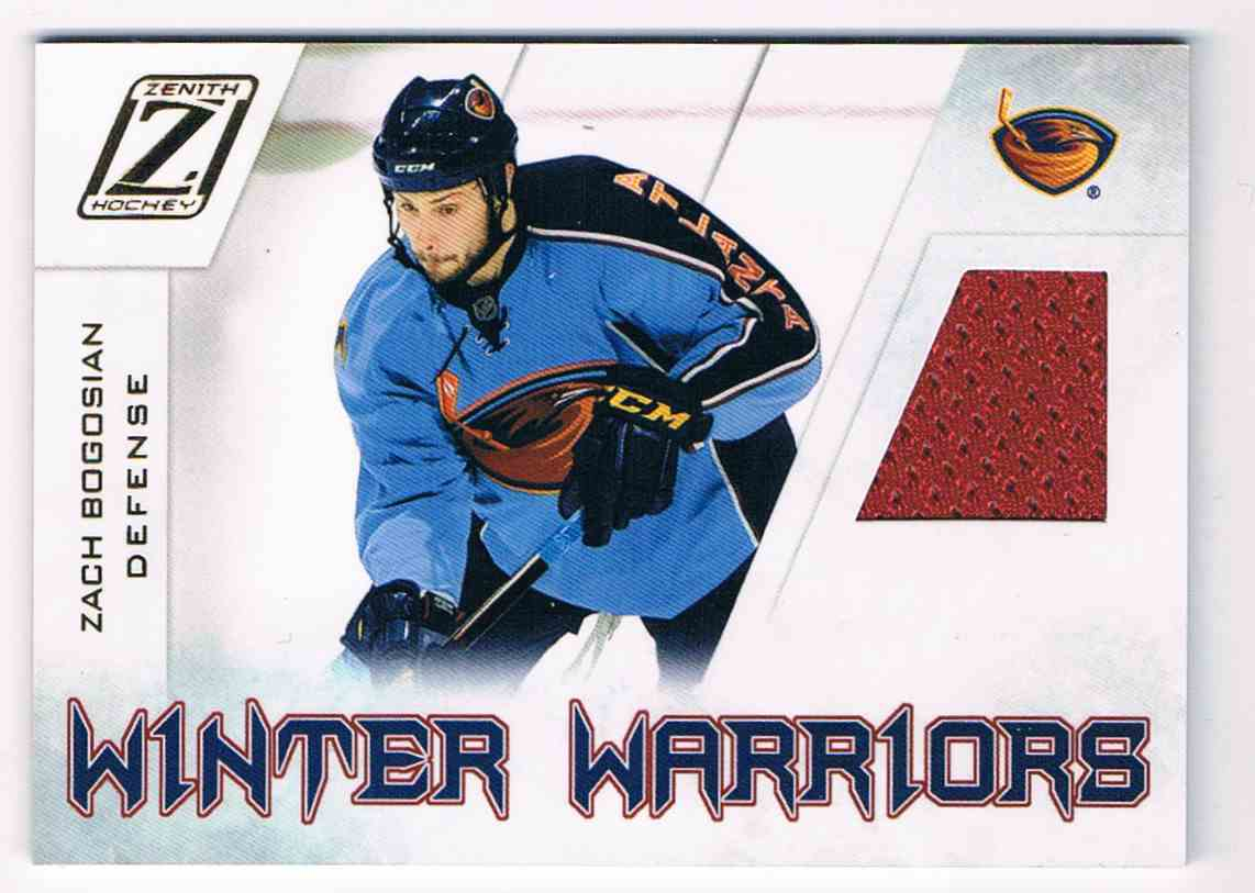 2010-11 Zenith Winter Warriors Zach Bogosian #ZB card front image