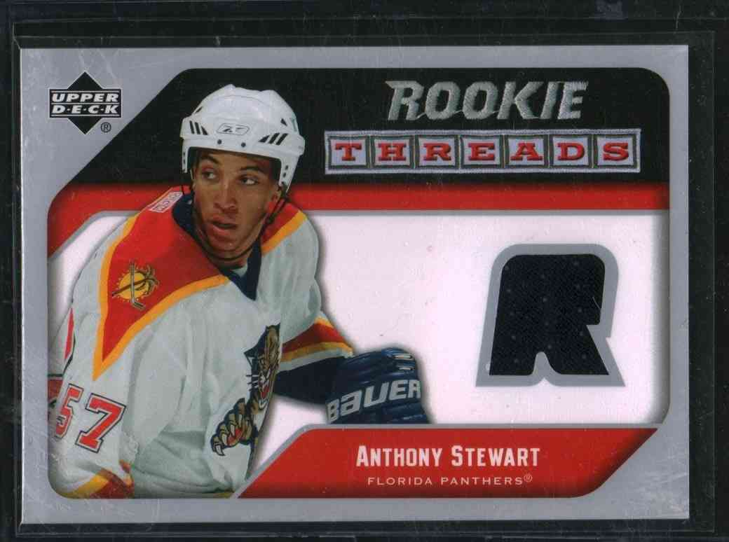 2005-06 Upper Deck Rookie Threads Anthony Stewart #RT-AS card front image