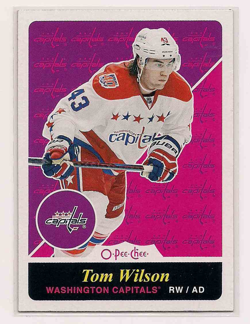 2015-16 O-Pee-Chee Retro Tom Wilson #116 card front image