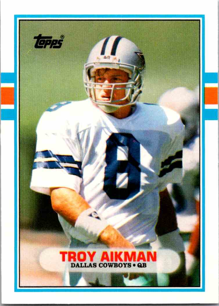 1989 Topps Traded Troy Aikman #70T card front image