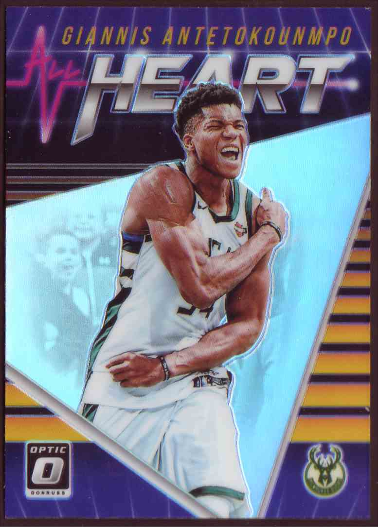 2018-19 Donruss Optic All Hearts Prizm Holo Giannis Antetokounmpo #4 card front image