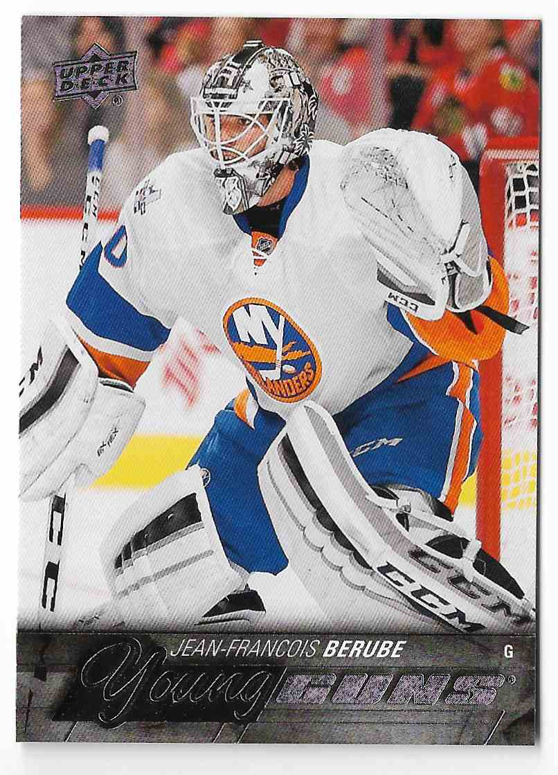 2015-16 Upper Deck Jean-Francois Berube #242 card front image