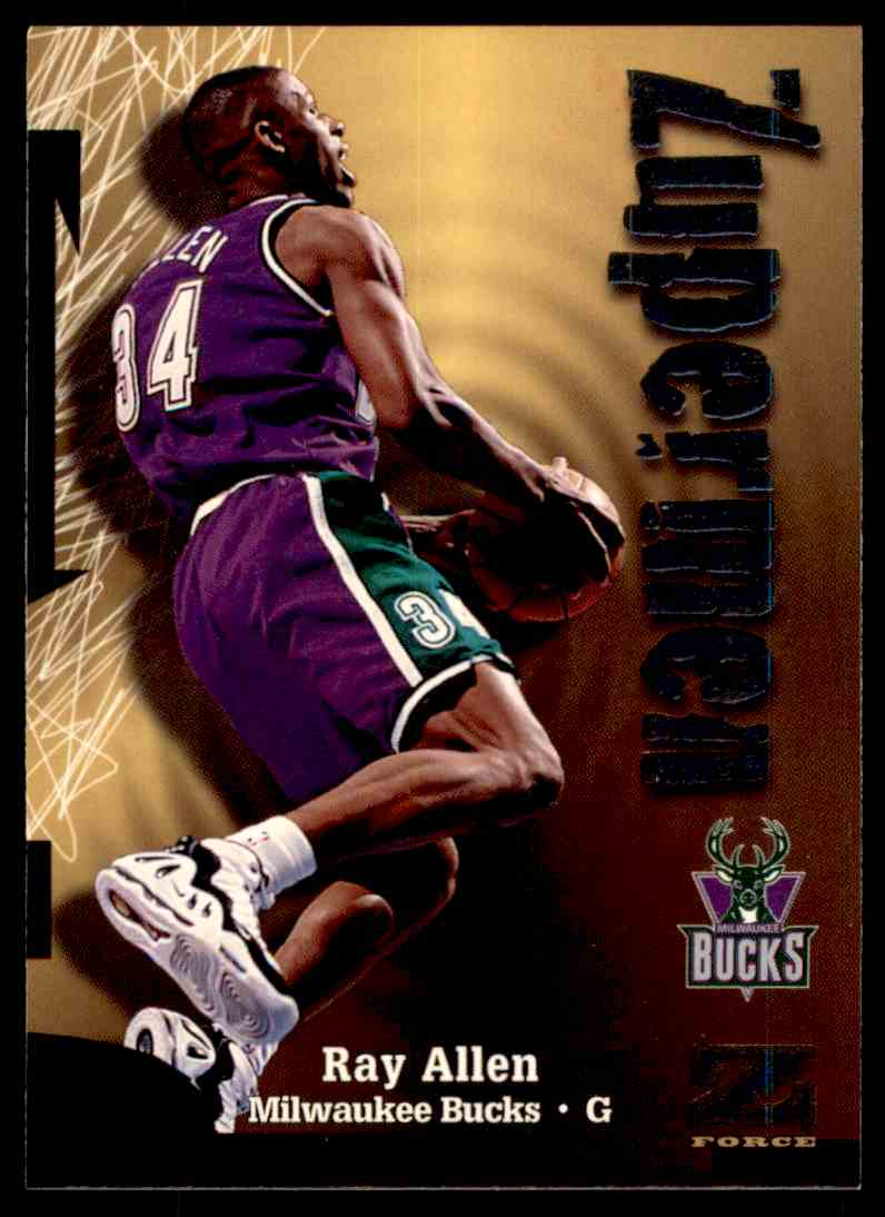 1997-98 Skybox Z Force Zuperman Ray Allen #198 card front image