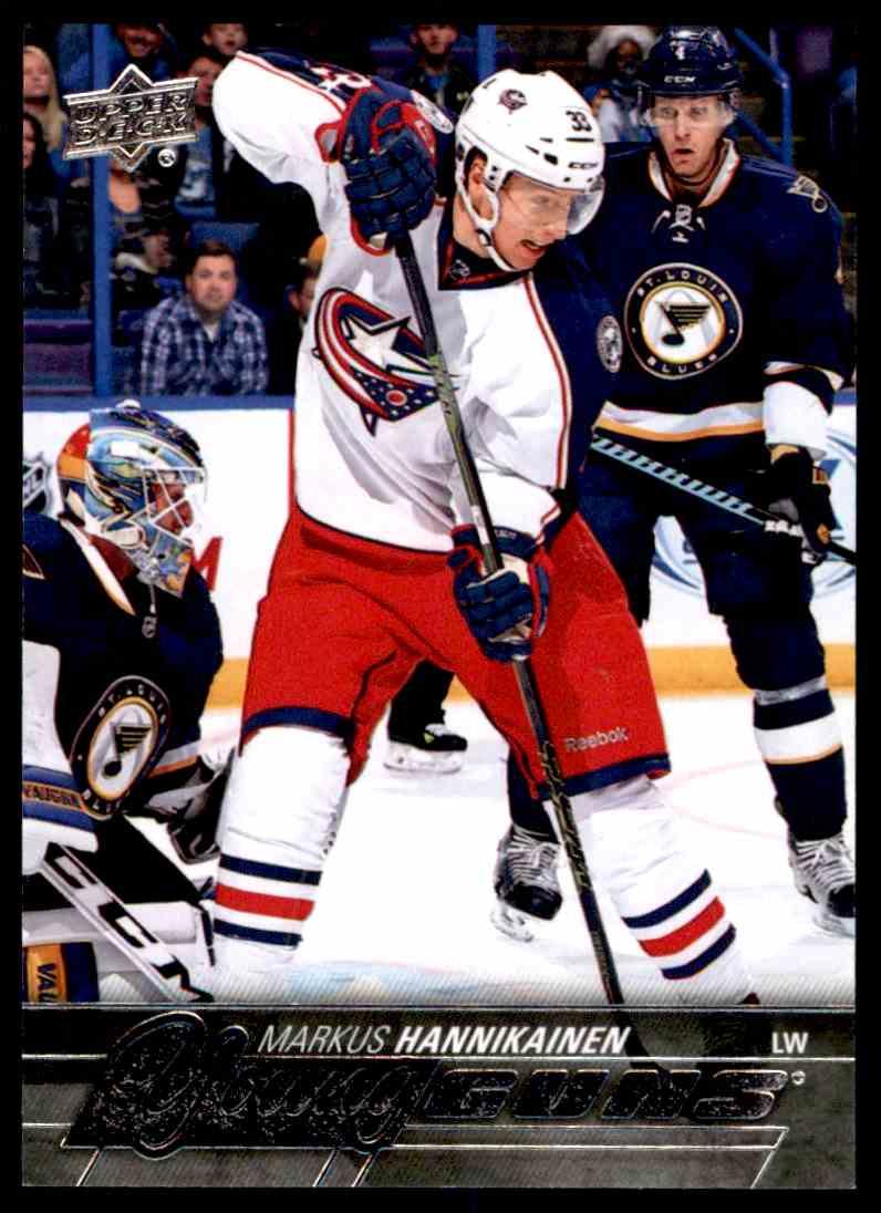 2015-16 Upper Deck Markus Hannikainen #493 card front image