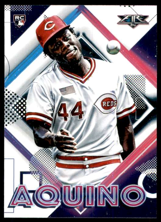 2020 Topps Fire Aristides Aquino RC #98 card front image