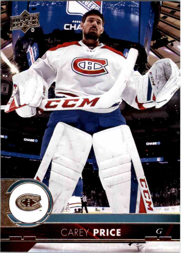 2017-18 Upper Deck Series 1 Carey Price #102 card front image