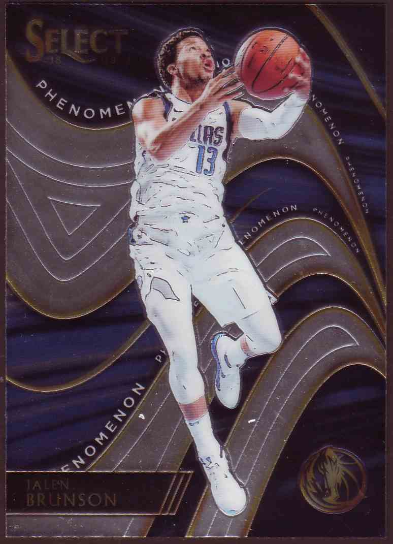 2018-19 Panini Select Phenomenon Jalen Brunson #35 card front image