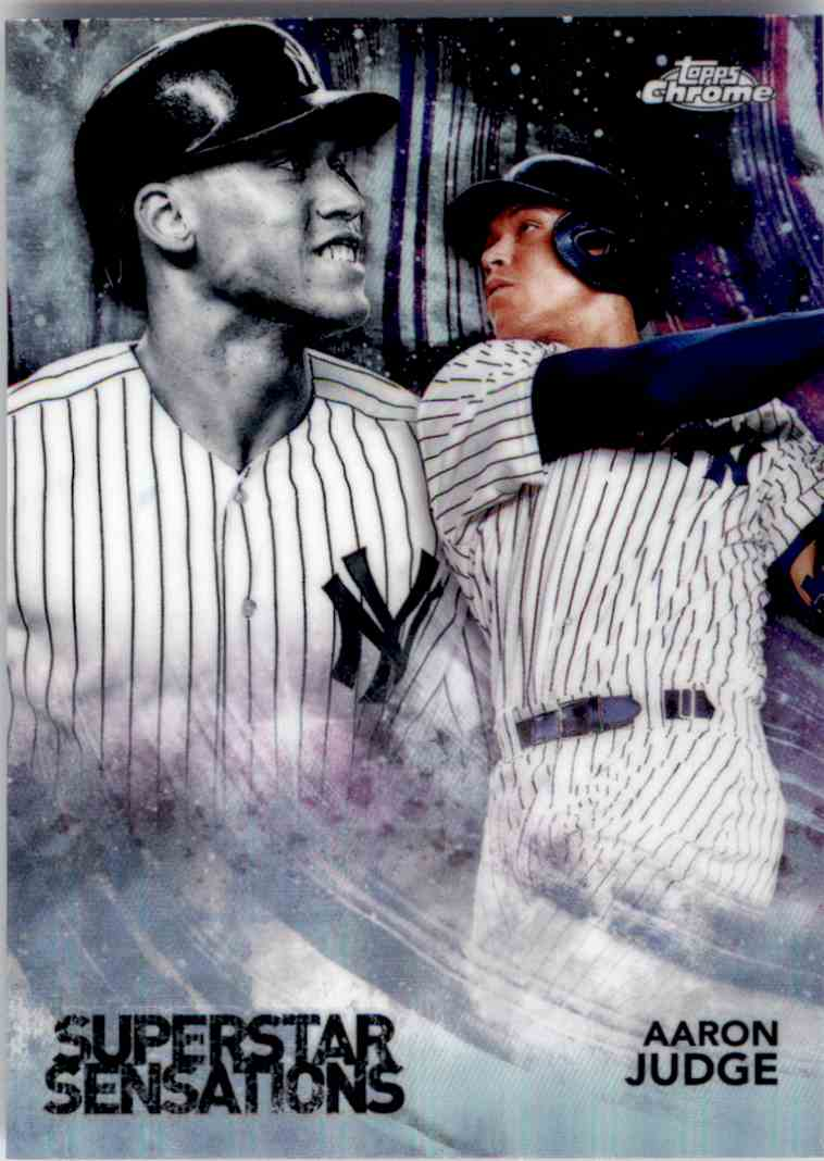 2018 Topps Chrome Superstar Sensations Aaron Judge #SS-1 card front image