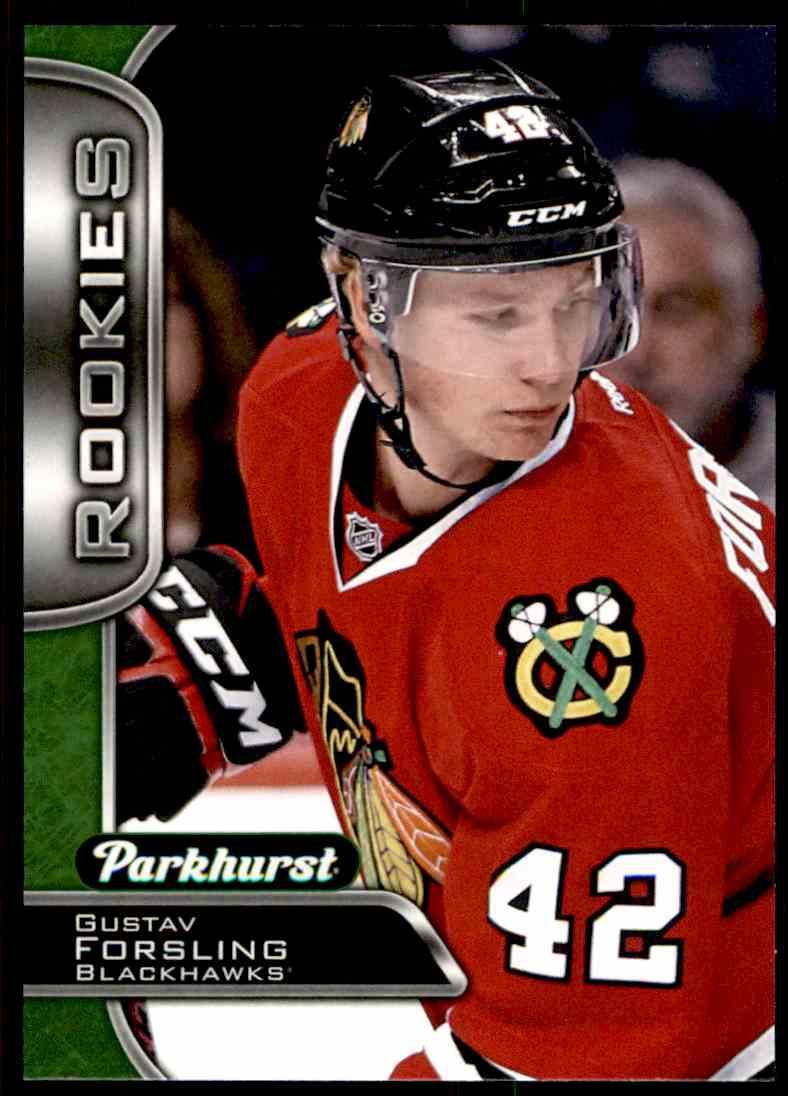 2016-17 Parkhurst Rookies Gustav Forsling #394 card front image