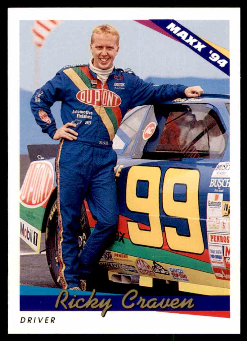 1994 Maxx Racing Series One Ricky Craven #164 card front image