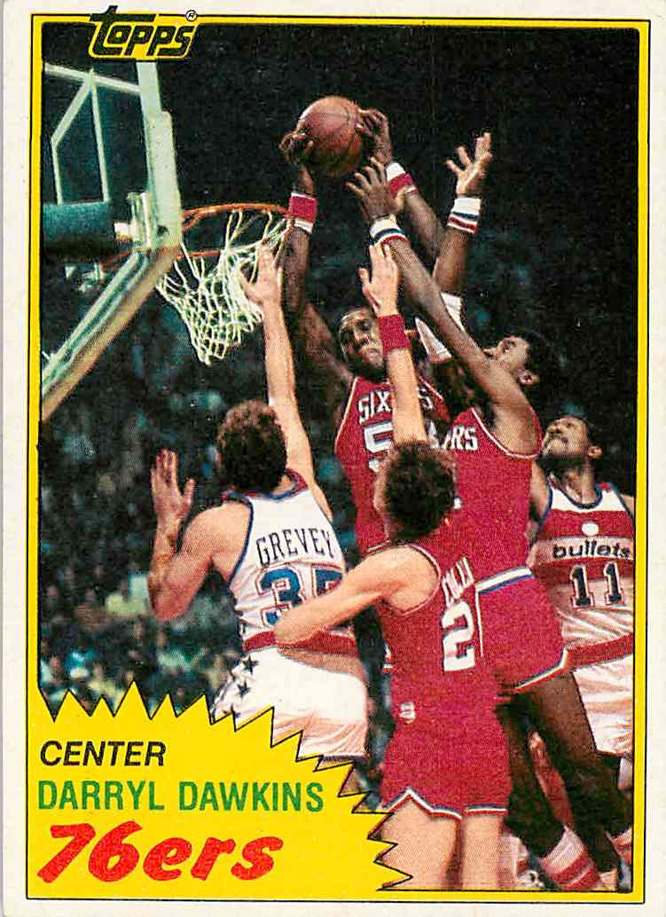 1981-82 Topps Darryl Dawkins #29 card front image
