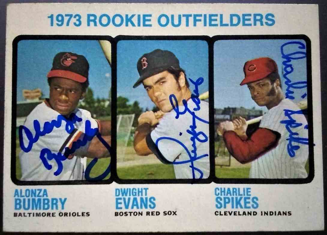 1973 Topps Dwight Evans Al Bumbry Charlie Spikes #614 card front image