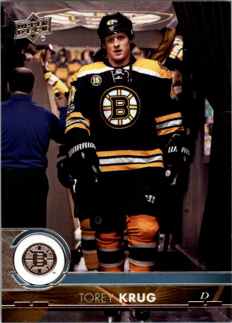 2017-18 Upper Deck Series 1 Torey Krug #16 card front image
