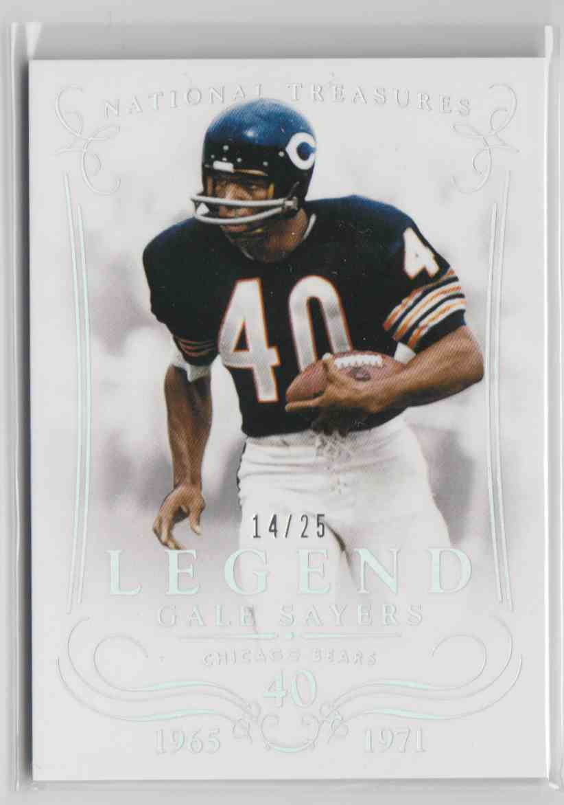2014 Panini National Treasures Legends Century Silver Gale Sayers #109 card front image