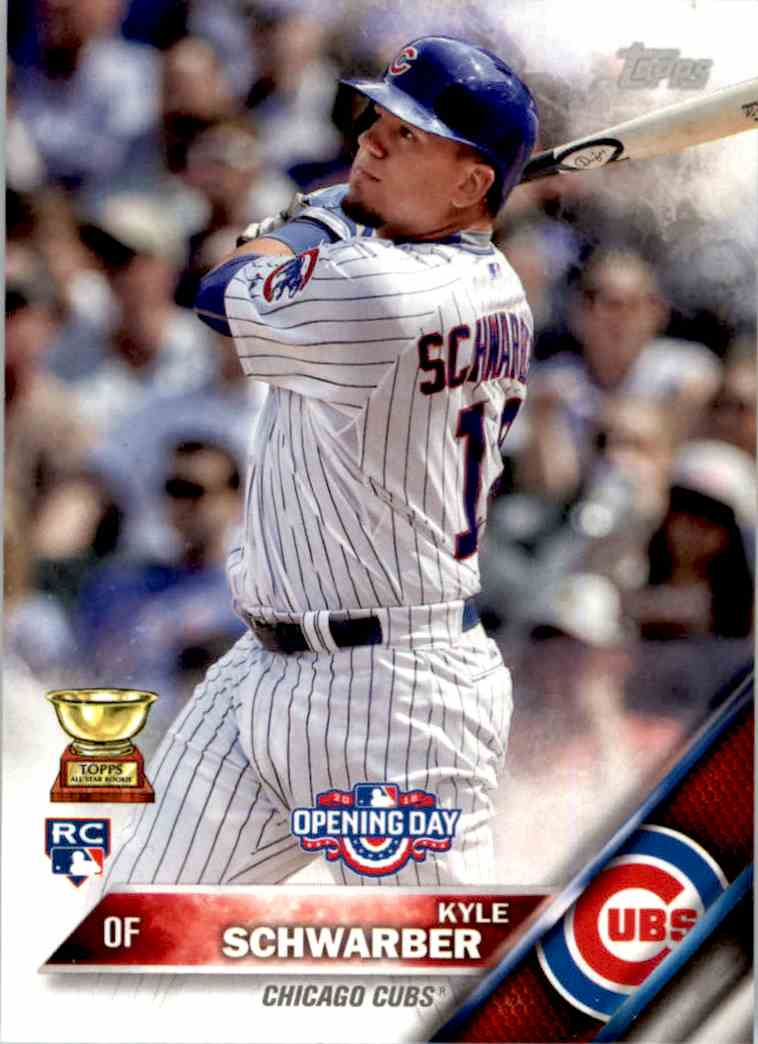 2016 Topps Opening Day Kyle Schwarber ASR #OD-47A card front image