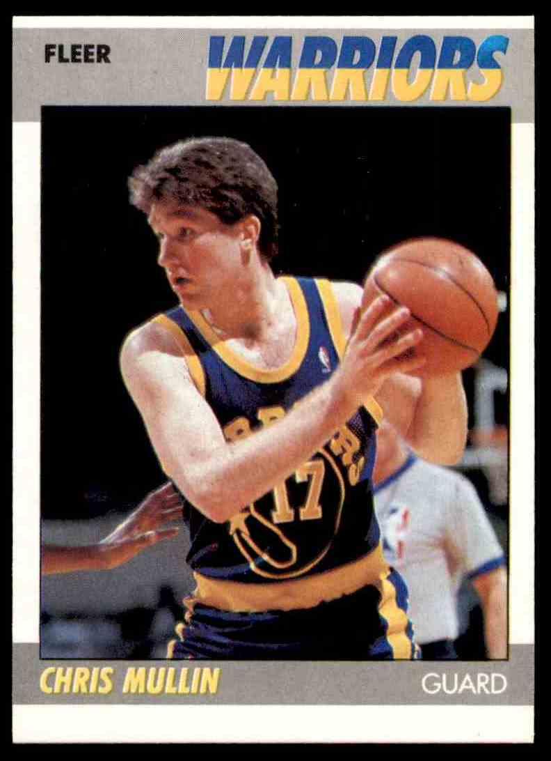 1987-88 Fleer Basketball Chris Mullin #77 card front image
