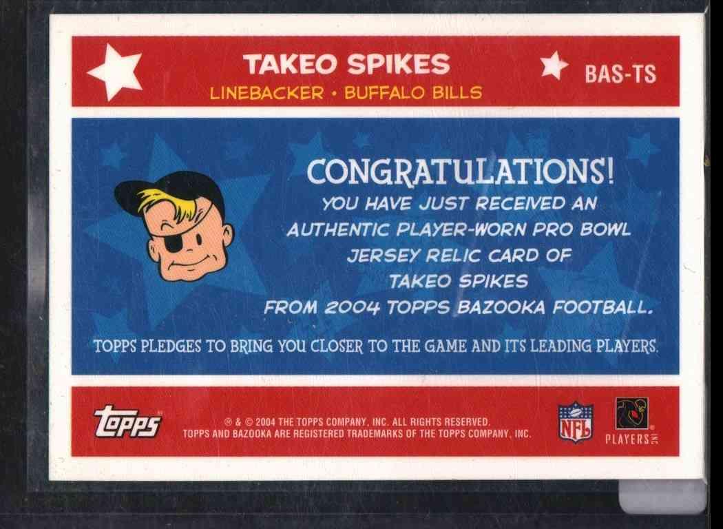 2004 Bazooka Takeo Spikes #BASTS card back image