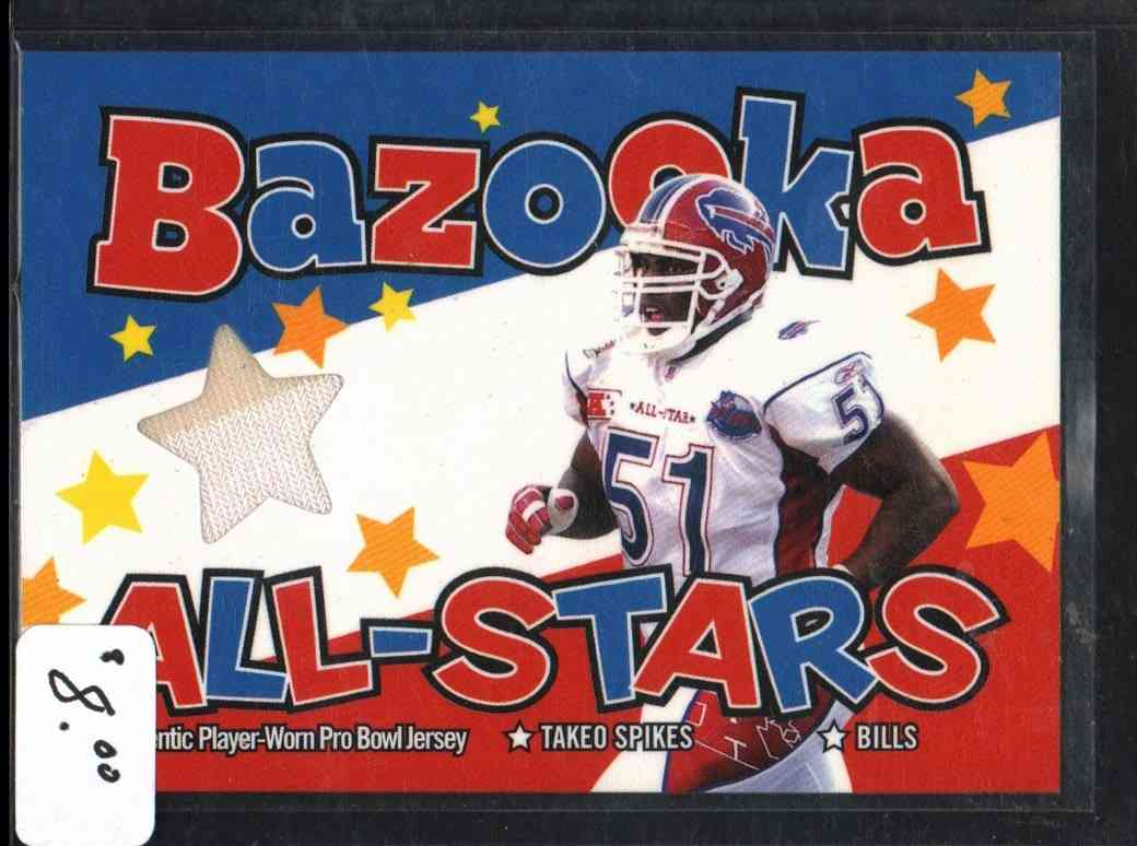 2004 Bazooka Takeo Spikes #BASTS card front image