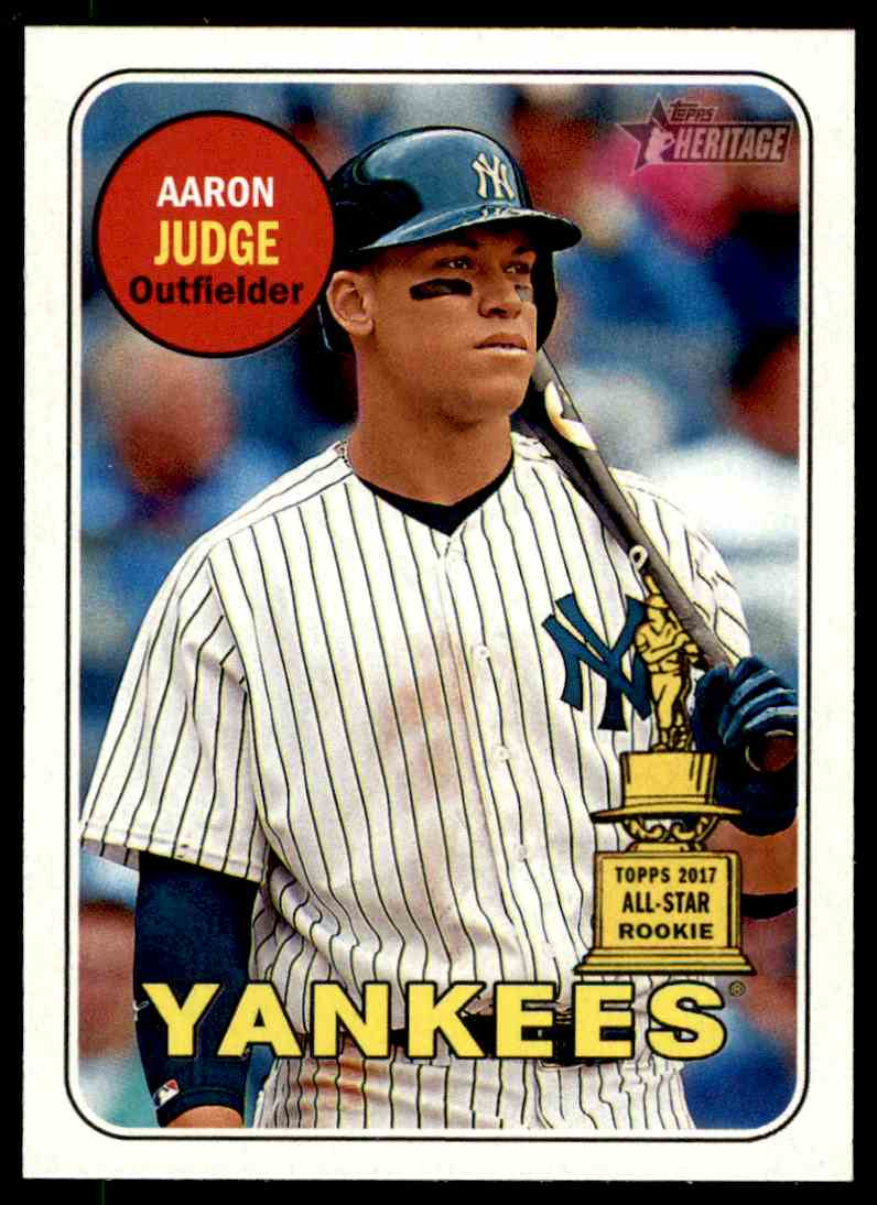 2018 Topps Heritage Aaron Judge 2017 All Star Cup Card On