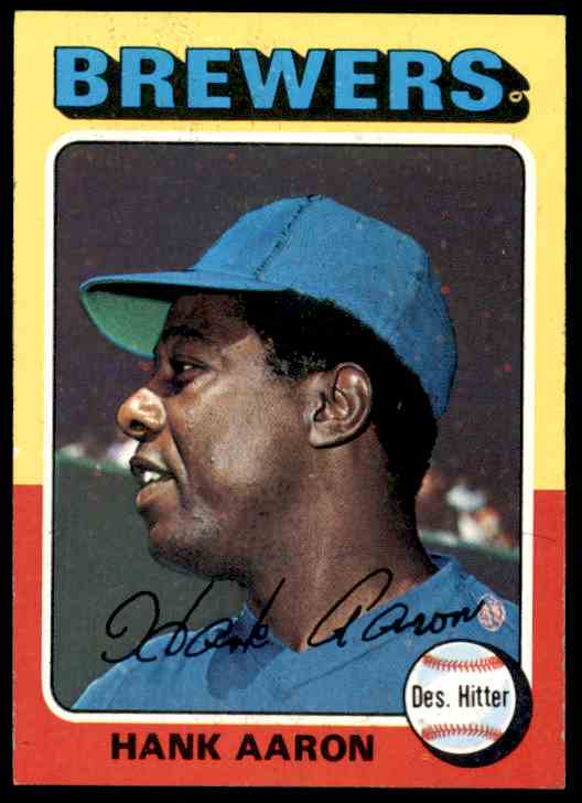 1975 Topps Hank Aaron 660 On Kronozio