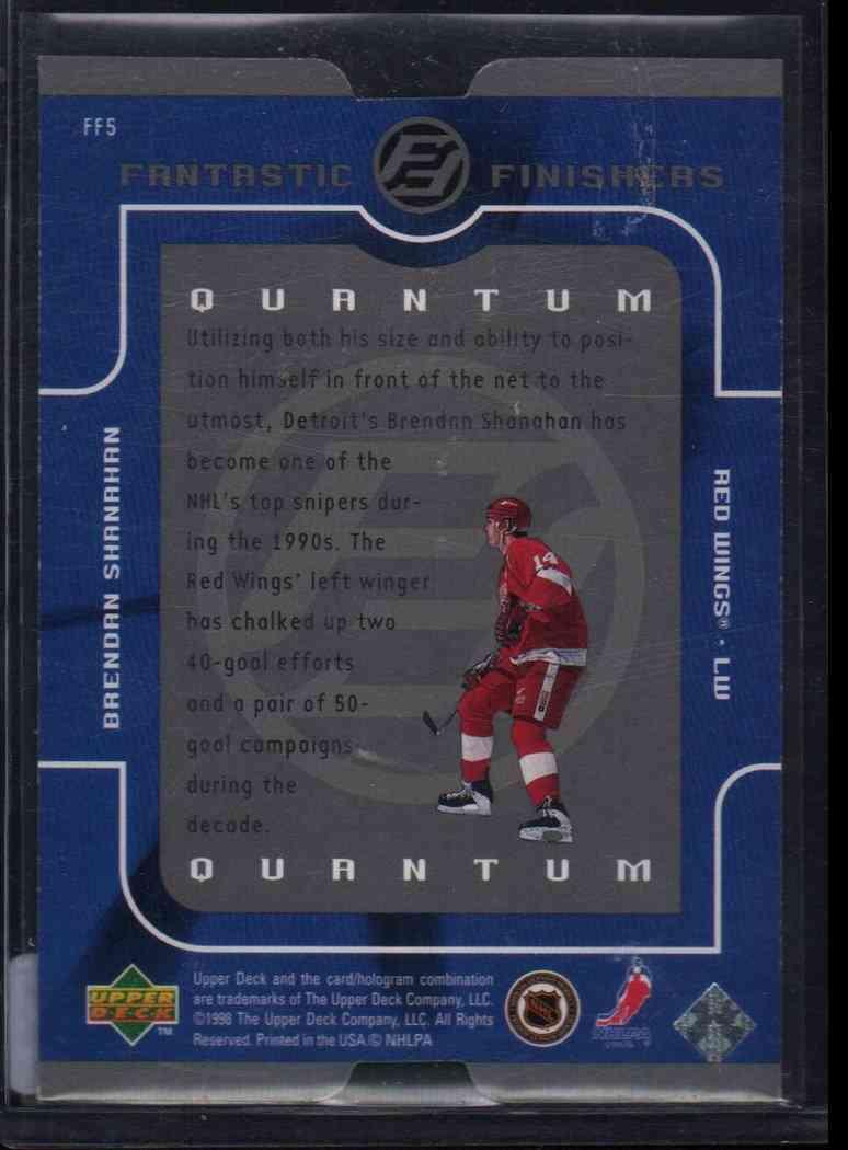 1998-99 Upper Deck Quantum Brendan Shanahan #FF5 card back image
