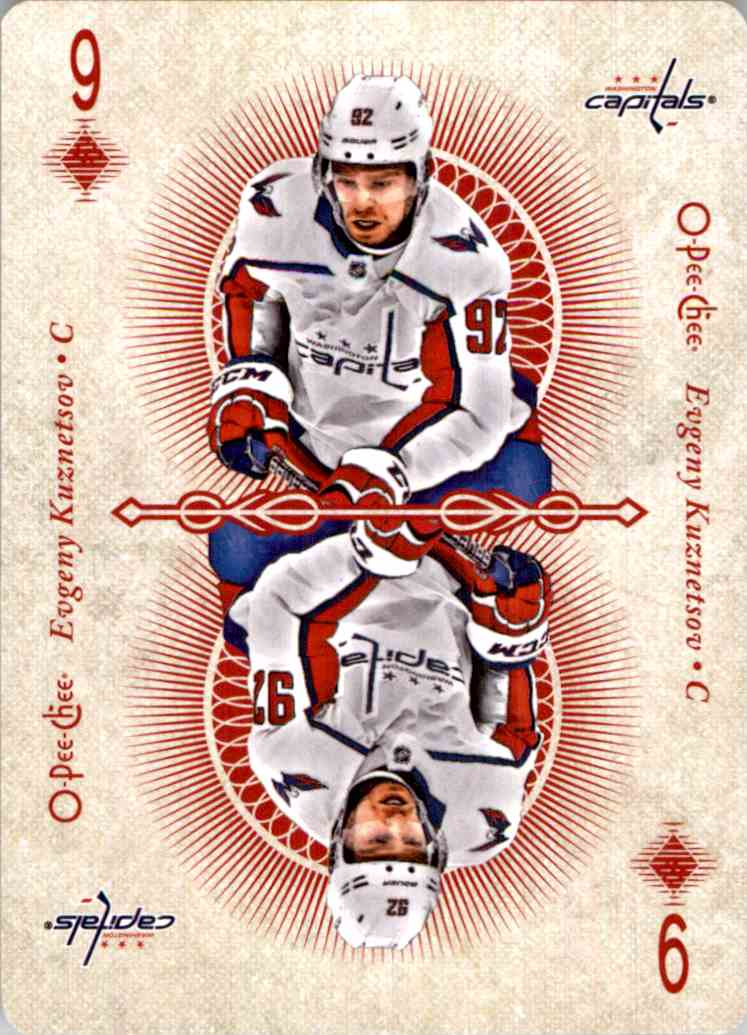 2018-19 O-Pee-Chee Playing Cards Evgeny Kuznetsov #9DIAMONDS card front image