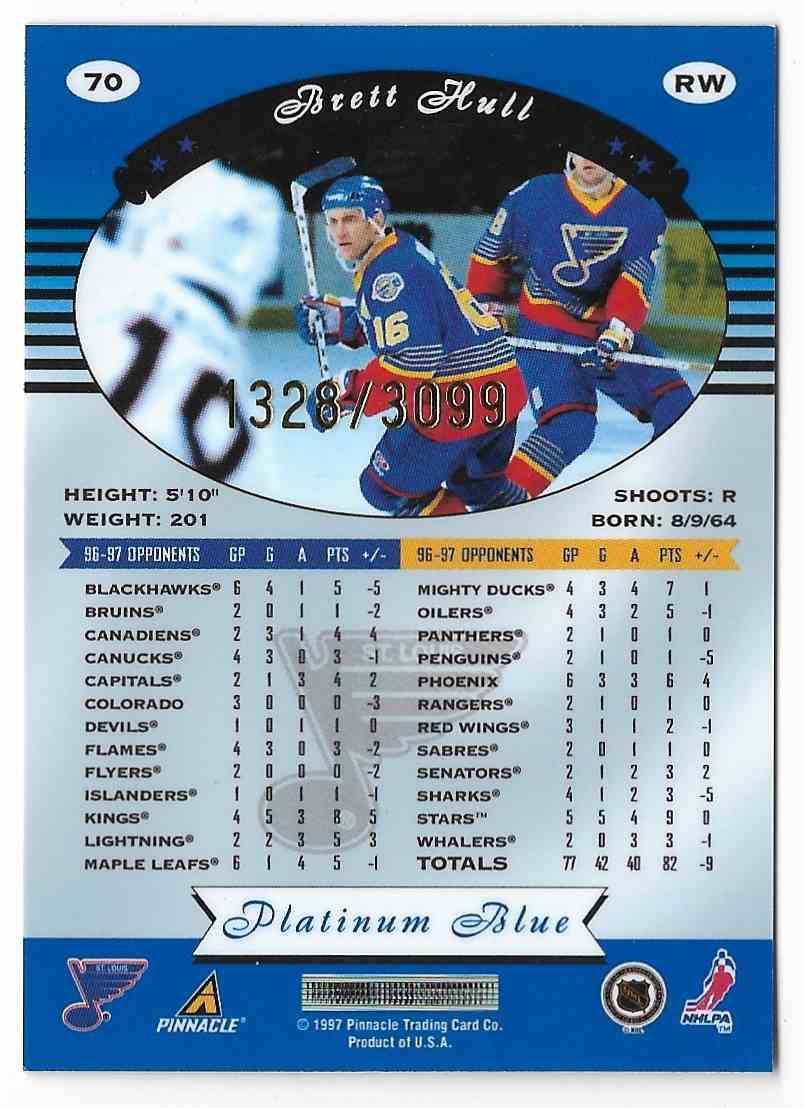 1997-98 Totally Certified Brett Hull #70 card back image