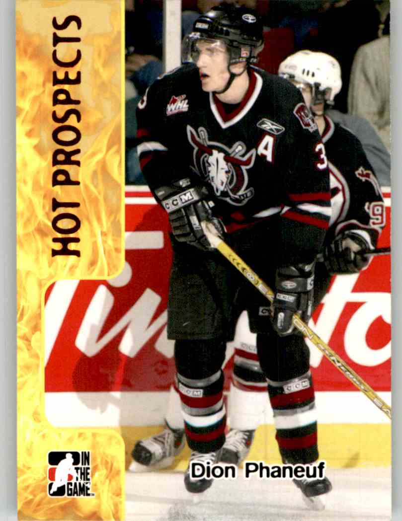 2005-06 In The Game Heroes And Prospects Dion Phaneuf #376 card front image