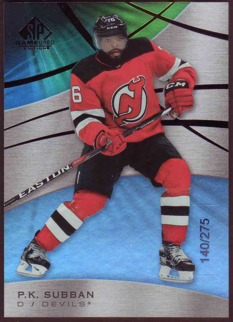 2019-20 SP Game Used Rainbow P.K. Subban #34 card front image