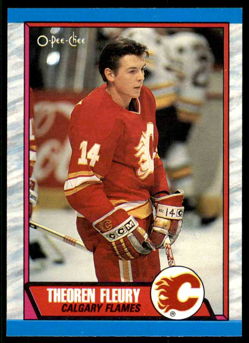 1989-90 O-Pee-Chee Theo Fleury #232 card front image