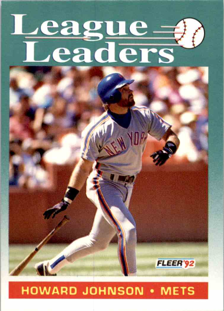 1992 Fleer League Leaders Howard Johnson 689 On Kronozio