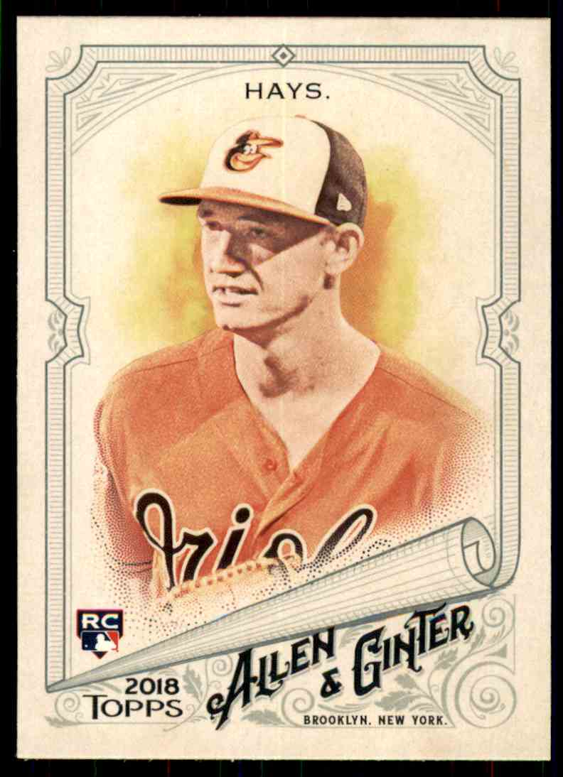 2018 Topps Allen & Ginter Austin Hays #16 card front image