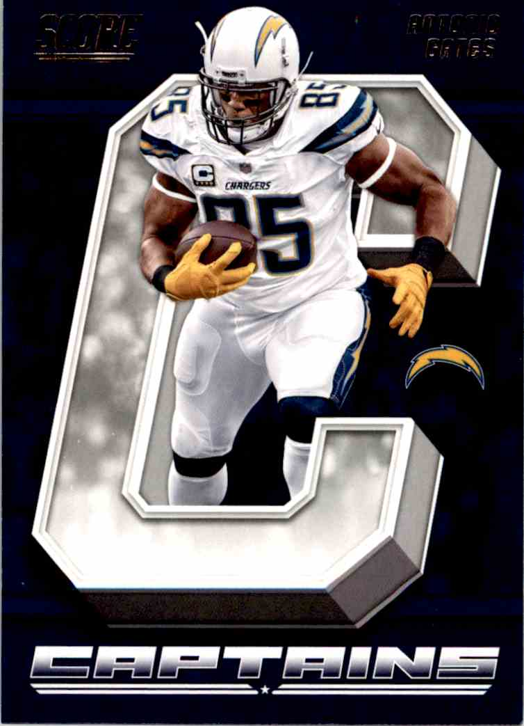 2018 Panini Score Captains Antonio Gates #14 card front image