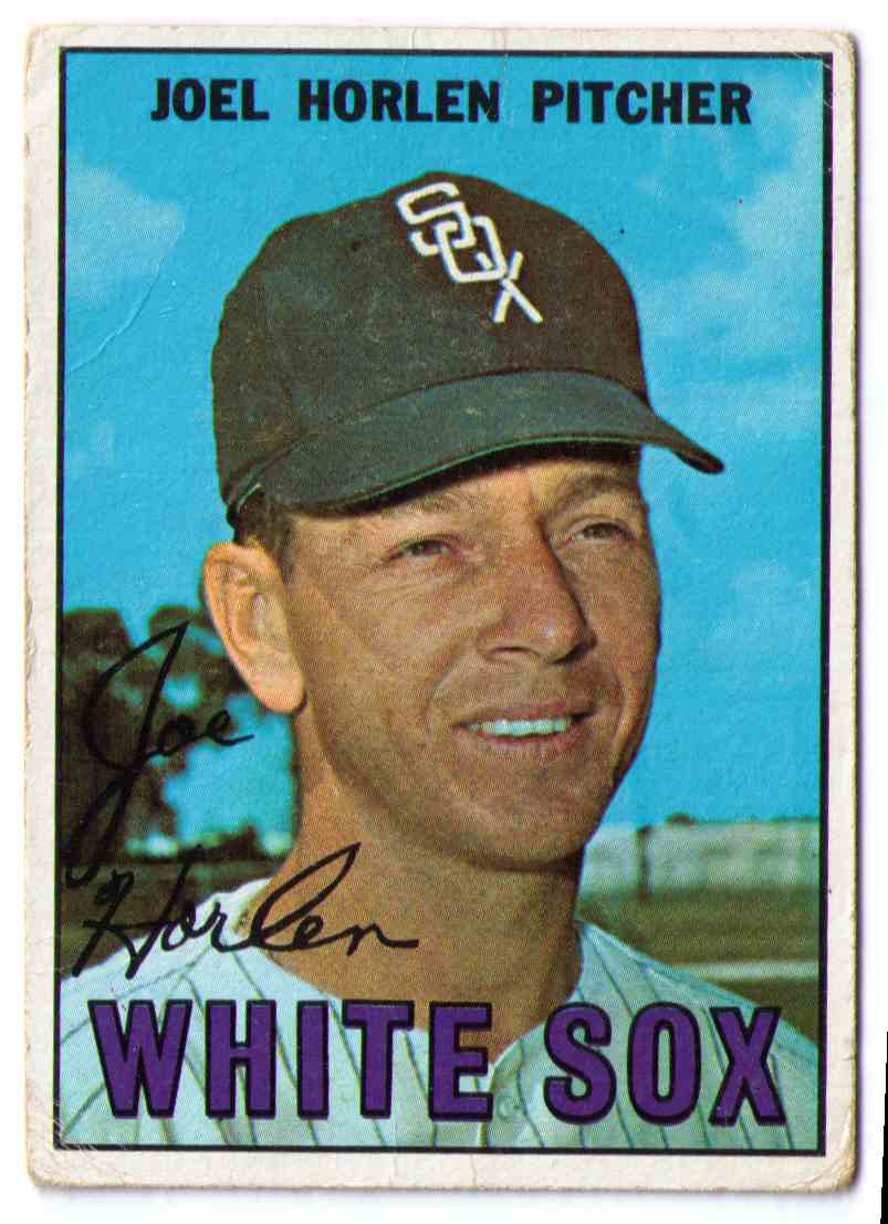 1967 Topps Baseball Card Joel Horlen #107 card front image