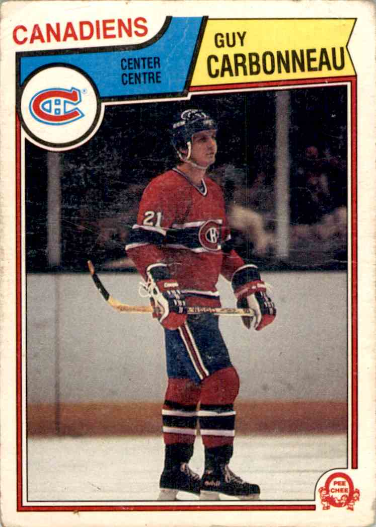 1983-84 O-Pee-Chee Guy Carbonneau #185 card front image