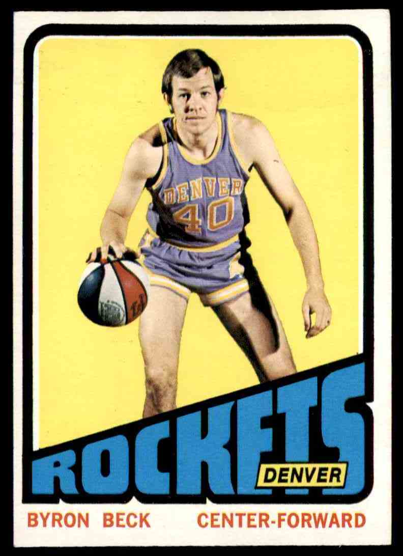 1972-73 Topps Byron Beck #187 card front image