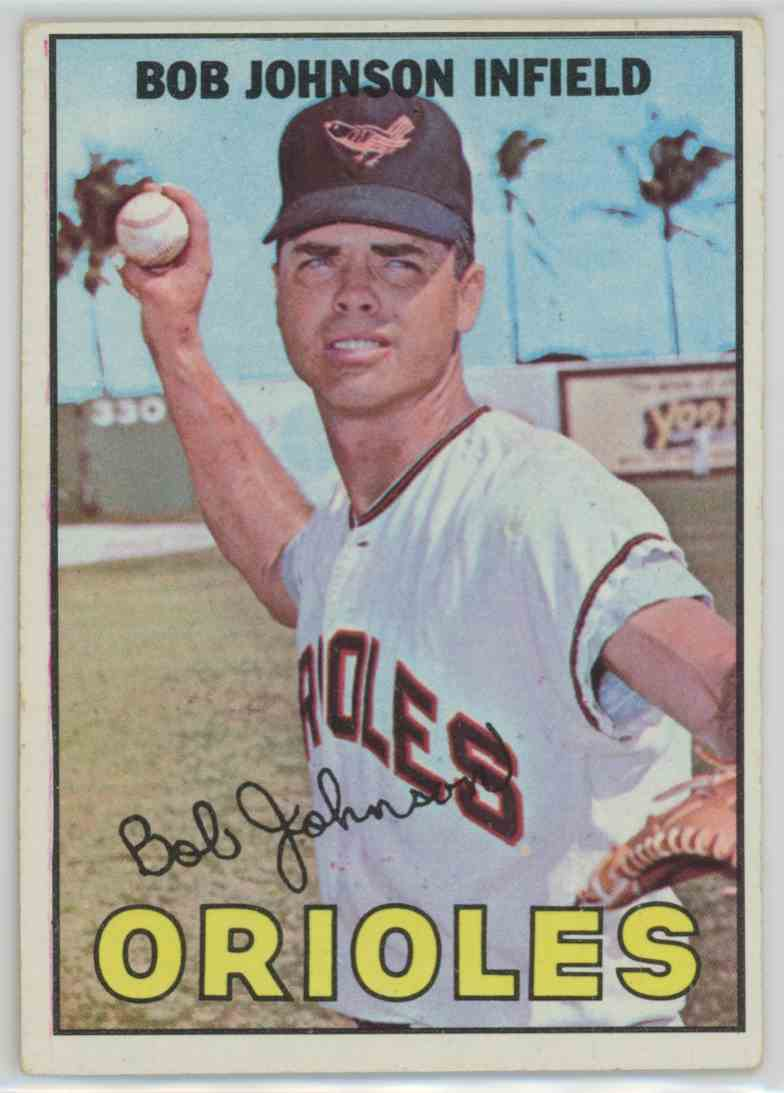 1967 Topps Bob Johnson #38 card front image