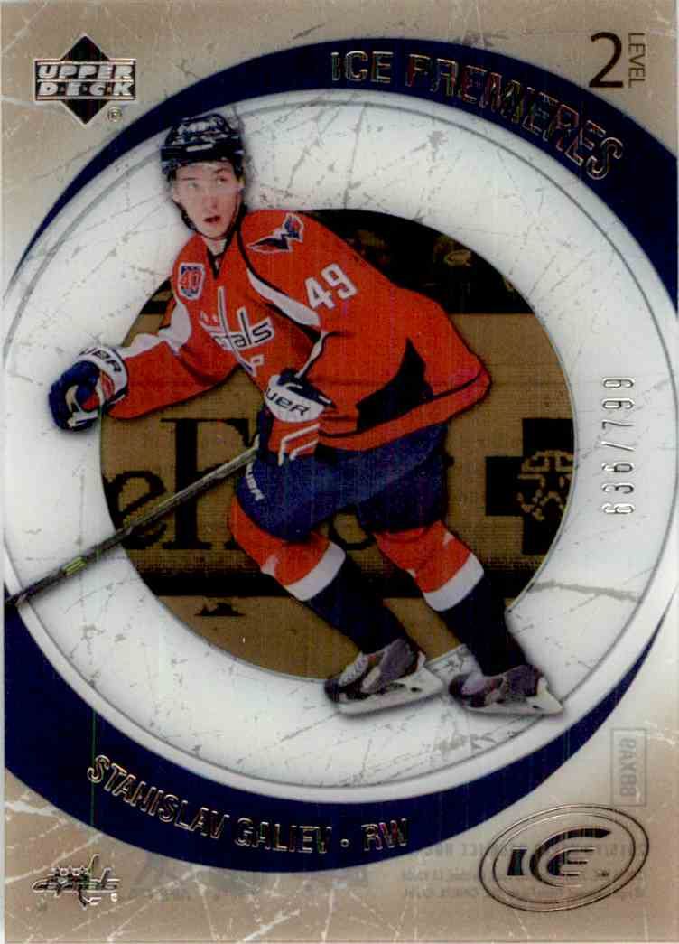 2015-16 Upper Deck Ice '05-'06 Retro Ice Premieres Stanislav Galiev #R-8 card front image