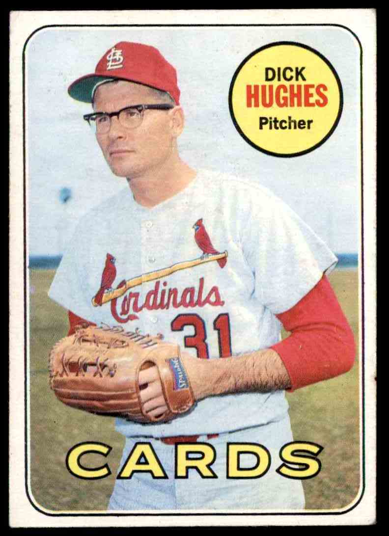 1969 Topps Dick Hughes #39 card front image