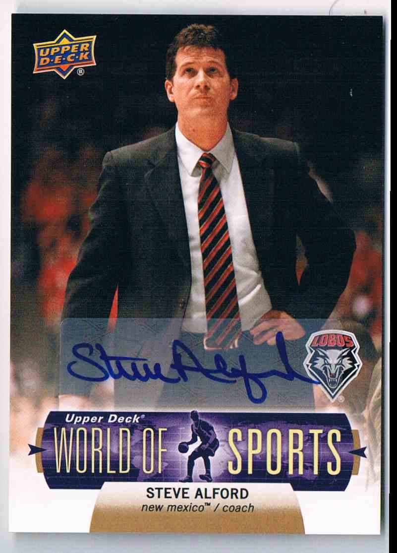 2011-12 Upper Deck Basketball Basketball World Of Sports Steve Alford Coach #65 card front image