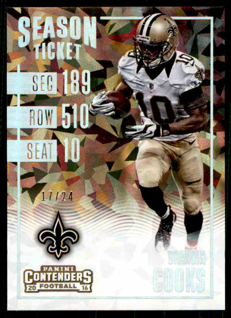 2016 Panini Contenders Season Ticket Brandin Cooks card front image