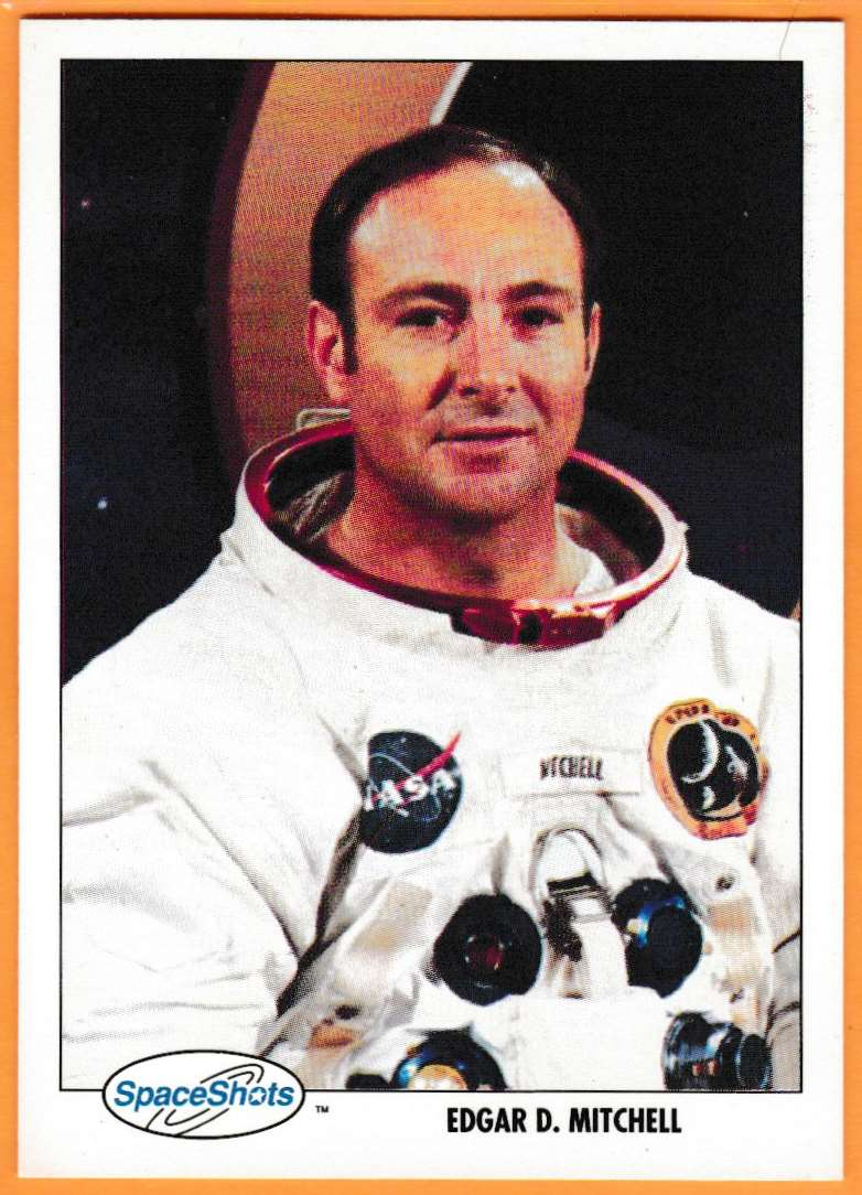 1991 Space Shots Space Trivia Challenge Edgar D.Mitchell #120 card front image