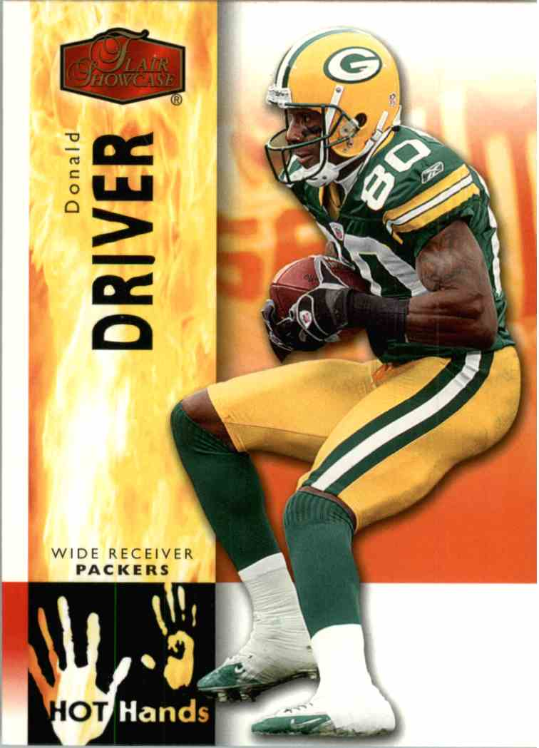 2006 Flair Showcase Donald Driver #HH9 card front image