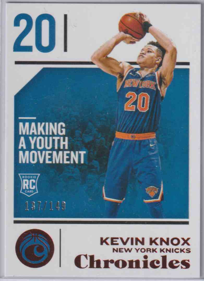 2018-19 Panini Chronicles Base Red Kevin Knox #58 card front image