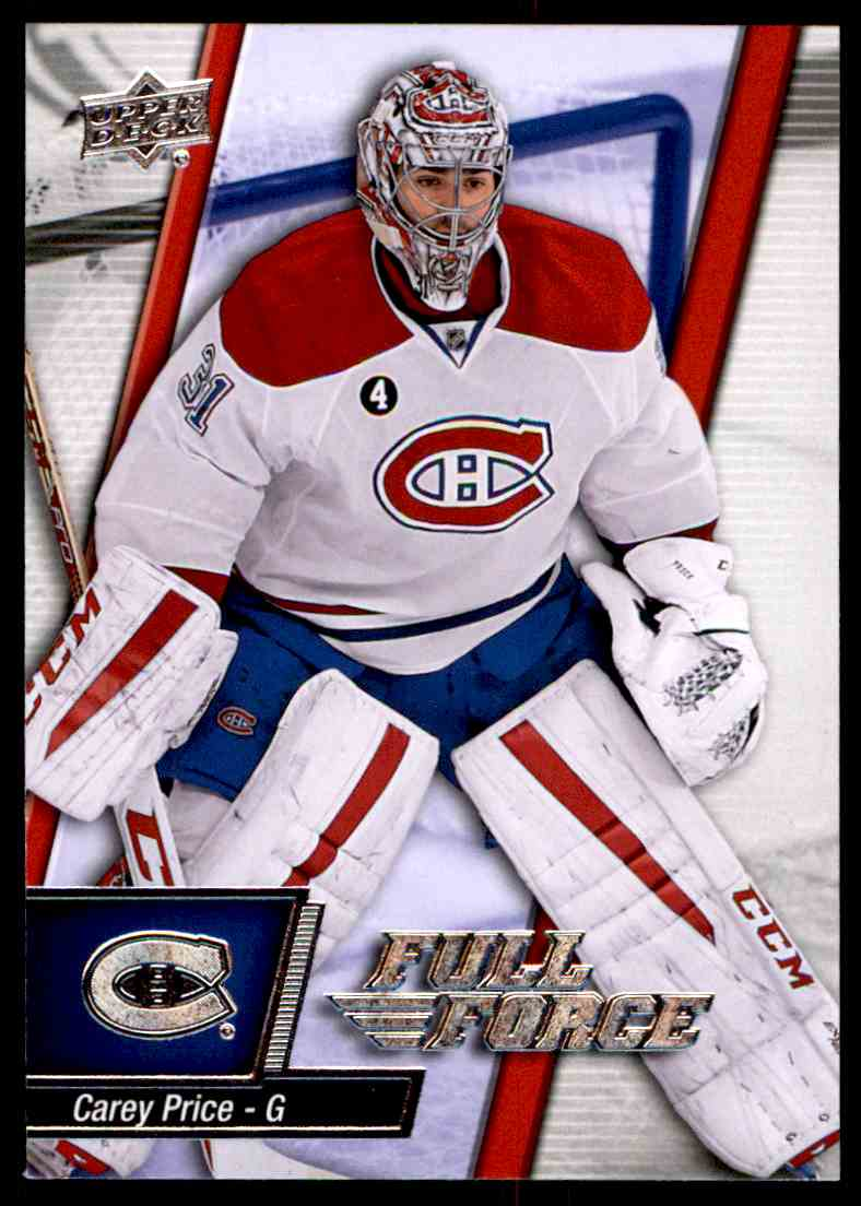 2015-16 Upper Deck Full Force Carey Price #54 card front image